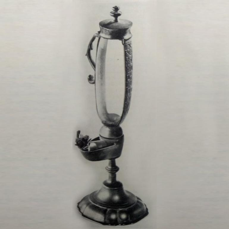 Olejové kahancové hodiny z konce 18. století