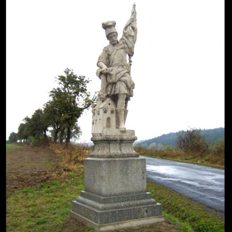 Sv. Florián - socha v obci Římov - národní kulturní památka
