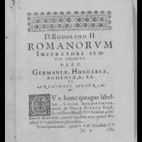 Věnování císaři Rudolfu II.