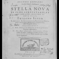 Titulní strana Kepplerova díla De Stella Nova