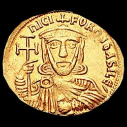 Nikorefos I. - detail ze zlaté mince cca 800 n.l.