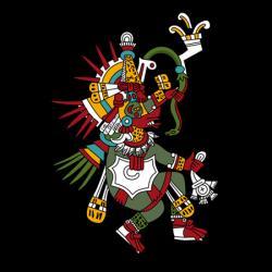 Quetzalcoatl - bůh větru, jitřenky a večernice, jeden ze čtyř stvořitelů