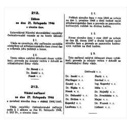 Zákon o zavedení zimního času v letech 1946 - 1947